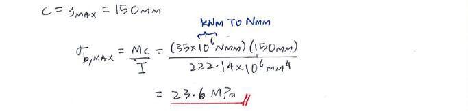 Question 3 | C4 2 Flexure Formula | Solid Mechanics I