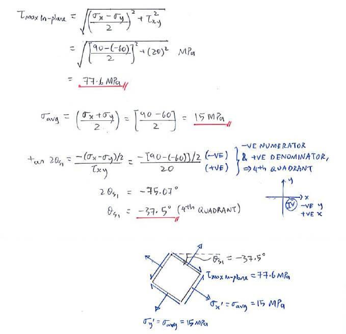 Example | C7 2 Principal Stress and Max-in-plane Shear